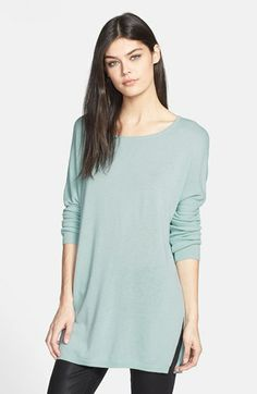 Trouvé Side Slit Tunic Sweater available at #Nordstrom