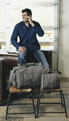 Have a special man in your life who travels all the time? Then this is the travel bag and case for For Him!! By Initials Inc - the traveler AND travel case.  www.myinitials-inc.com/18543