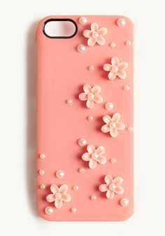 Dainty Floral Iphone 5 Case | Modern Vintage Shades Of Pink