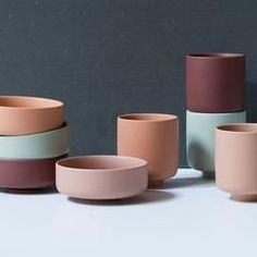 """In stores now // """"Your choice of colours can affect the atmosphere in your home,"""" Anna says. Colourful ceramics, prices from DKK / SEK / NOK / EUR / ISK 298 / GBP Ceramic Tableware, Porcelain Ceramics, Ceramic Pottery, Ceramic Art, Kitchenware, Porcelain Jewelry, Cold Porcelain, Ceramic Bowls, Keramik Design"""