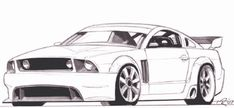 ford-mustang-zeichnen-1 Ford Mustang, Mustang Cars, Disney Drawings Sketches, Car Drawings, Cars Coloring Pages, Adult Coloring Pages, Lowrider Drawings, Car Drawing Pencil, Car Design Sketch