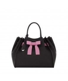 Coccinelle Top Handle In Leather With Bow
