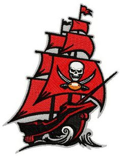 Tampa Bay Buccaneers 2014 logo machine embroidery design. Machine embroidery design. www.embroideres.com