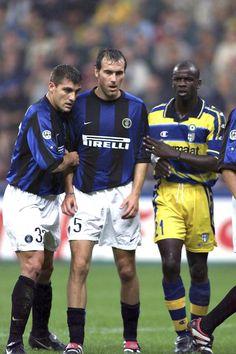 Christian Vieri, Laurent Blanc (Inter Milan) et Lilian Thuram (Parme)