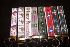Key Chains / Zipper Pulls Military Army by CraftingMemoriesOhio
