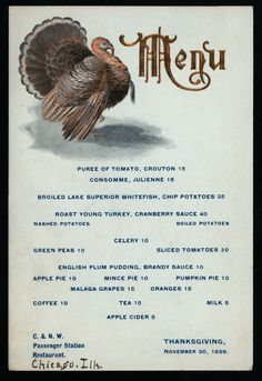 Thanksgiving Dinner Held By C N W Penger Station At