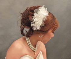 Romantic Ivory Flowery headpiece / Hair by LoveMimosaFleur on Etsy