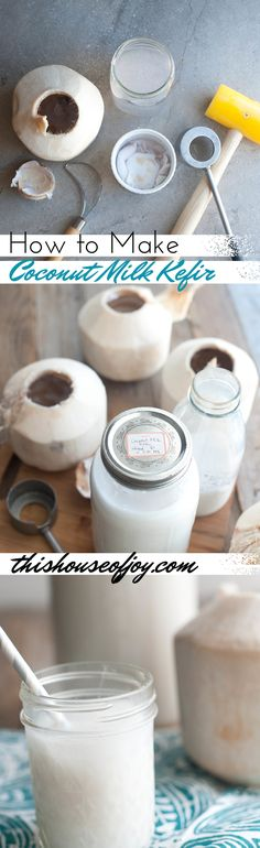 How To Make Coconut Milk Kefir - A delicious probiotic drink!!!