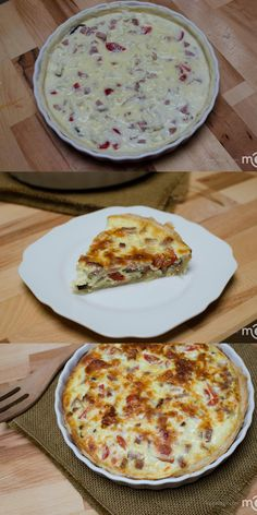 Flaky crust and delicious filling, makes a perfect quiche! Good Stuff!! ;)