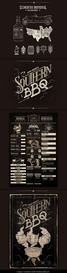 Great design Southern BBQ #brandidentity