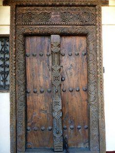 Wooden Front Door from Zanzibar