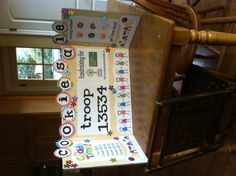 Adorable Girl Scout cookie sign for cookie booths!!!!