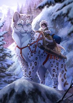 Big Cat Zine: Snow Leopard by Seyumei on DeviantArt Big Cat Zine: Snow Leopard by Seyumei on Deviant Cute Fantasy Creatures, Mythical Creatures Art, Mythological Creatures, Magical Creatures, Big Cats Art, Furry Art, Cat Art, Cute Animal Drawings, Cute Drawings