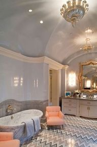 Love the floor combo with such a classic traditional bathroom