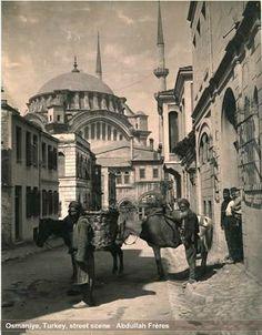 Nur-u Osmaniye by Abdullah Freres Long Gone, Ottoman Empire, Mosque, Ancestry, Istanbul, Taj Mahal, Horses, History, Architecture