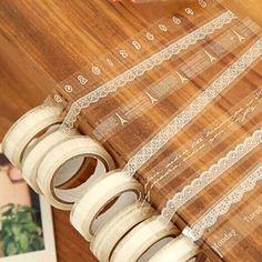 Rollen DIY Washi Paper Lace Dekorative Sticky Papier Klebeband selbstklebend in Bastel- & Künstlerbedarf, Scrapbooking & Papierbasteln, Scrapbooking   eBay!