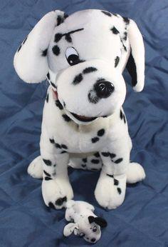 "16"" DALMATIAN DOG With 4"" PUPPY Stuffed Plush Toy Mom KIDS OF AMERICA Red Collar #KidsOfAmerica"