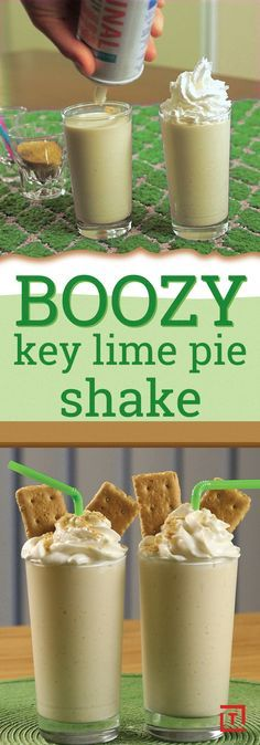 Now you can enjoy the sweet taste of a key lime pie in boozy milkshake form thanks to Drinks Made Easy's actually easy recipe. Juice some key limes and add that to vanilla ice cream, whipped cream, and graham cracker crumb. Finish it off with vodka for a milkshake worth filling your pie-hole.