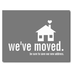 change of address announcement invites housewarming parties