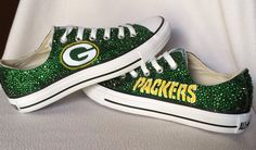 Custom painted Green Bay Packers converse shoes with by HaloHouse, $350.00
