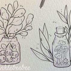 March 29th #dailydrawing [Planted]. This is not for #magicalmarch but it is still kind of magical! I need to keep working on show prep but here are the ink drawings of some new sticker designs! ✨#artdaily #artstagram #illustrationdaily #workinprogress #designlife #magicalplants #witchvibes #botanicalwitch #illustratenow #characterdesign #propdesign #abeautifulmessapp