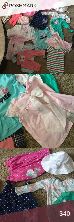 Baby cloths 12-24 months 🌸all girl Lots of outfits all that you see even a hat fits  12-24 month 🌸❤️this is a good bye 🙌🏼 Matching Sets