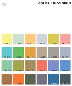 Trend colors spring/summer 2013/14 kids/girls