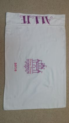 Pillowcase for princess signatures from Disney World