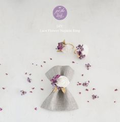 Vintage DIY Lace Flower Napkin Rings | Confetti.co.uk