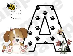 Alphabet Puppy Nursery Baby Wall Border. Why is there almost nothing out there for a puppy-themed nursery?