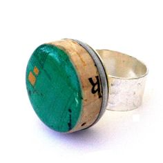 Wine Cork Rings Punch Drunk Statement Ring Wine Lover por uncorked