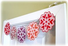 Valentine snowflakes made from a coffee filter! I can't wait to make some!