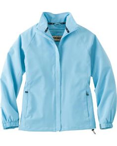 The Ash City - North End LADIES' HIP LENGTH PERFORMANCE STRETCH JACKET is available in Sizes XS-3XL. It can be purchased in your choice of the following color: Blue Drop.
