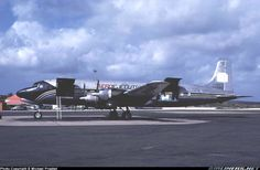 Douglas DC-6A (YV501C, c/n 44645) of Aero Ejecutivos at Curacao Int. Airport on Feb 21, 1991.