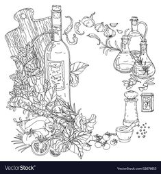 480 best Food-Related Mandala/Coloring pages images on Pinterest ...
