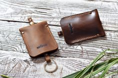 Leather Key Case Leather Key Holder Leather Key-holder by RedKlen