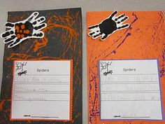 Glittery Spider Webs - a super cute spider writing activity!