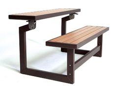 Lifetime Convertible Bench, Faux Wood Construction, # 60054:Amazon:Patio, Lawn & Garden