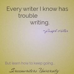 Writing never gets easy, just less difficult. Take Screenwriting Fundamentals on Screenwriters University, starting today! ~Aaron http://swu.register.fwmedia.com/Course?CourseId=7012-6