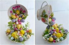 flying cup easter deco