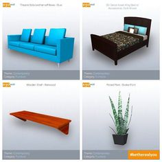 Contemporary Furniture Quadriptych  #friday #contemporary #furniture #chair #sofa #couch #bed #plant #shelf #interior #design #interiordesign #beautiful #elegant #decor #interiordecor #home #homes #3d #game #games #gamer #gaming #videogame #videogames #gamedev #therealyou  Sign up for a free account today at www.egowall.com.