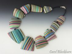 Necklace of Free-Form Hollow Beads