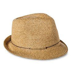 a8fa052132a Women s Gold Beaded Sash Fedora Hat - Tan - Merona™