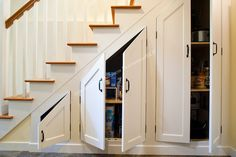 Appealing Decoration Under Stairs Storage Ideas With Custom Cabinets Built Under The Stairs Maximize Storage In This Newly  Basement Remodel Storage Under Stairs Photo