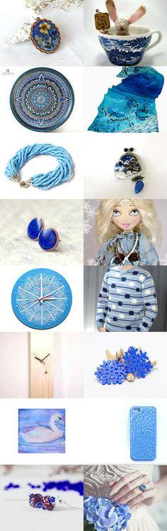 Blue ornaments  by Antonina Lyamayeva on Etsy--Pinned with TreasuryPin.com