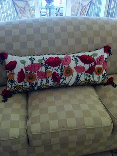 Long McKenzie Childs Pillow