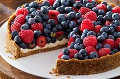 Red, White and Blue Berry Torte for the Fourth of July - Foodista.com