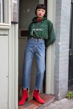Vintage Cut-off Cropped Jeans
