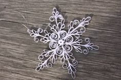 Paper snowflake  Quilled Christmas ornament  by creationfaeries