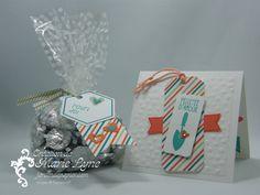 January 31, 2014 Jardin de papier: Packaging Valentine - Stampin'Up! Twisty Treats Kit, Tag It